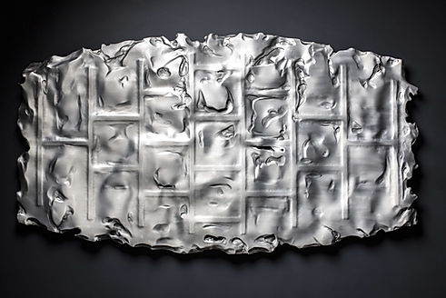 Marco Paghera scultura in metallo - metal sculpture - abstract geometric sculptures