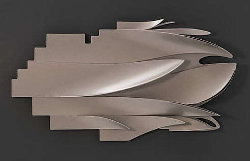 Marco Paghera - scultura in metallo - metal sculpture - abstract geometric sculptures