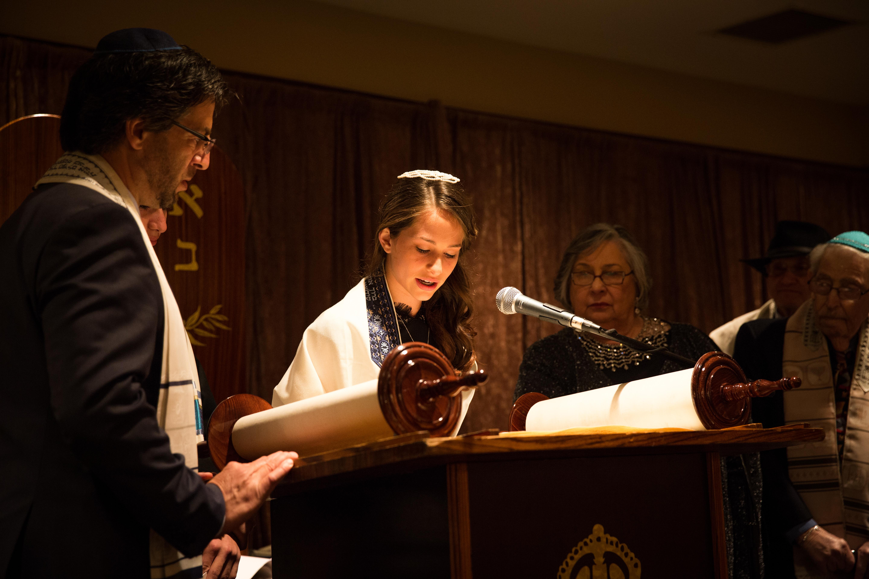 Rabbi Bat Mitzvah Girl Photograph