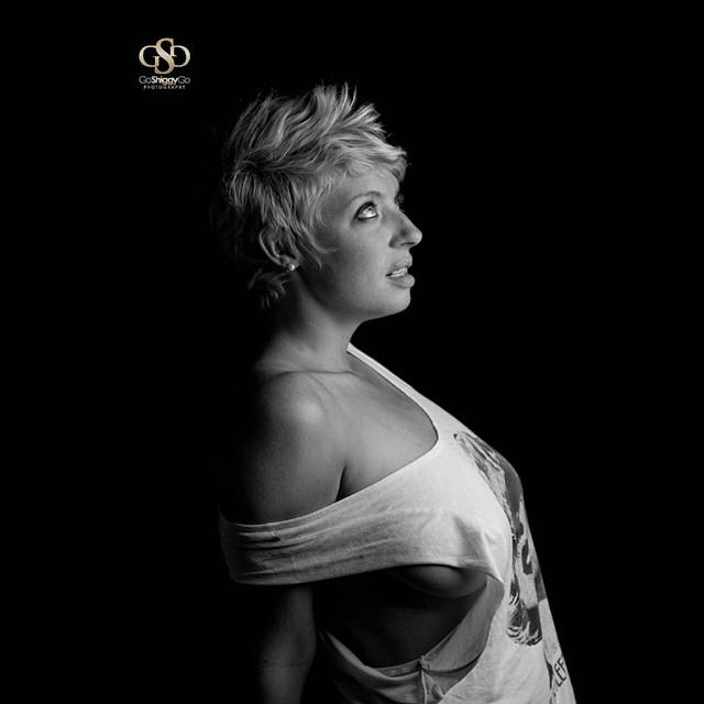 Model and amazing Actor Photoshoot. Black & White
