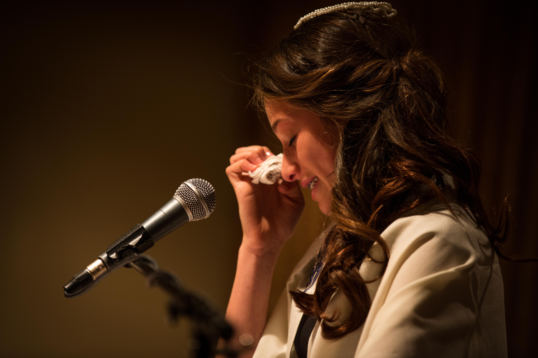 Crying Bat Mitzvah Girl Photo