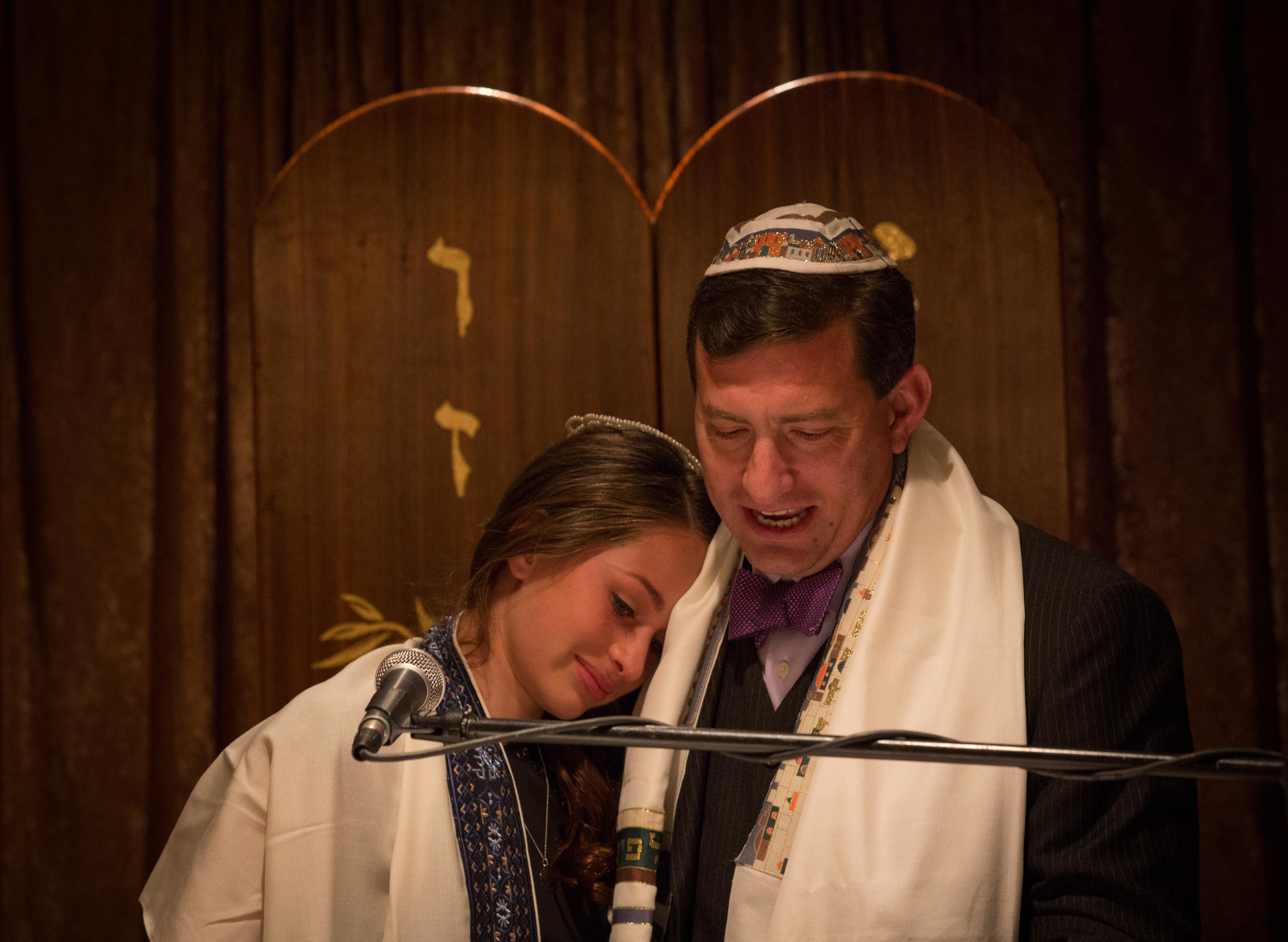 Father Daughter Bat Mitzvah Photogra
