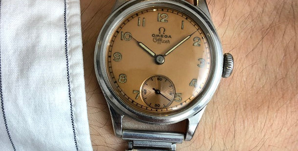 1942 OMEGA OFFICER WATCH