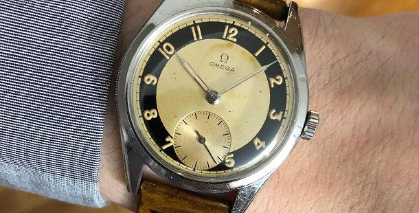 1949 OMEGA BULLSEYE WATCH