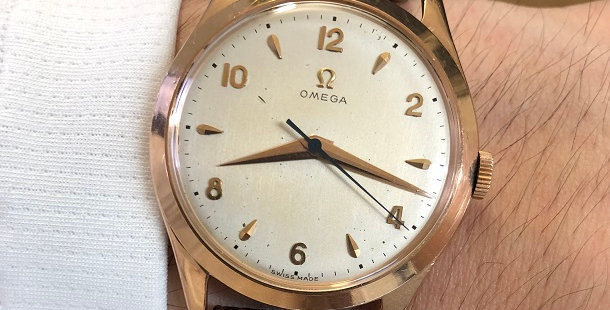 1950 OMEGA 14K ROSE GOLD WATCH