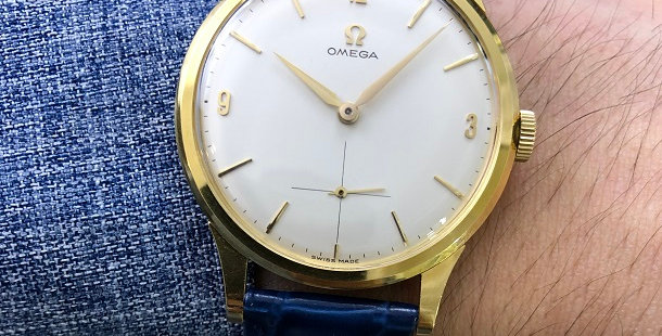 1960 OMEGA 18K DRESS WATCH