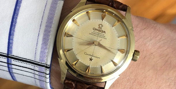 1958 OMEGA CONSTELLATION PIE PAN