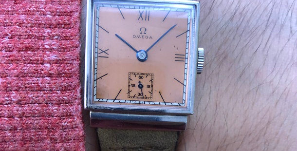1940 OMEGA SQUARE WATCH