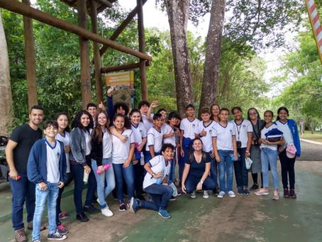 Alunos visitam unidade de conservação em Campo Grande