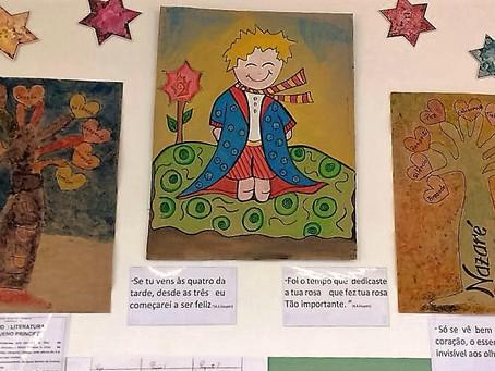 Pequeno Príncipe é retratado em diversas atividades por alunos da Escola Nazaré