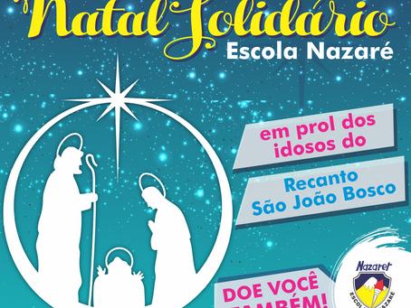 Escola Nazaré de Campo Grande realiza campanha Natal Solidário para ajudar idosos do Recanto São Joã