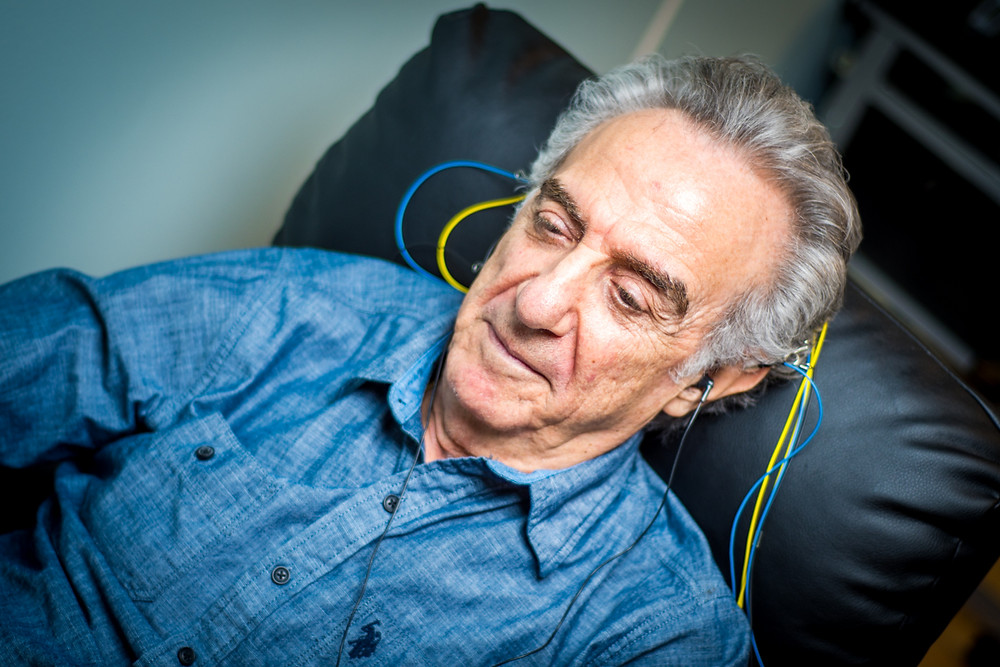 man receiving neurofeedback training