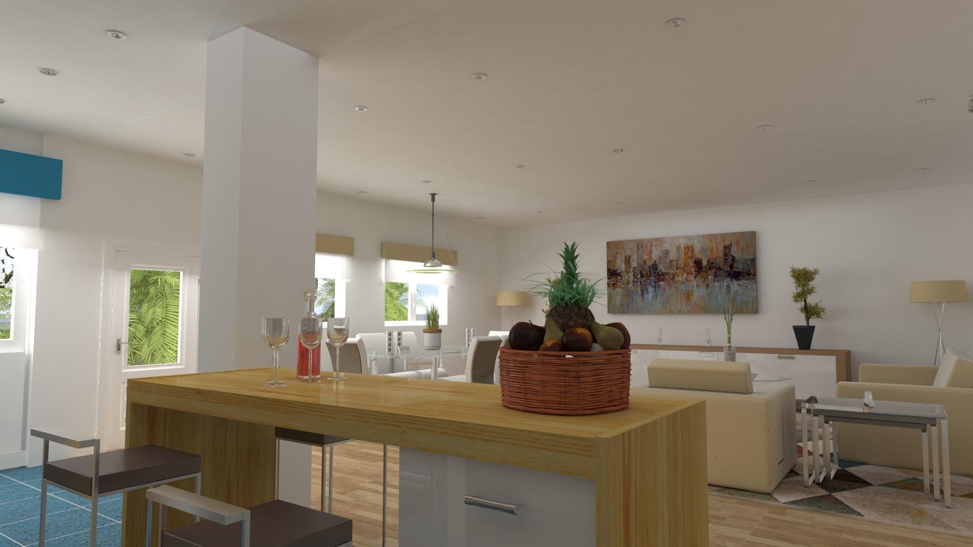Open space salón - comedor - cocina