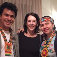avec Puwé et Vari Puyanawa