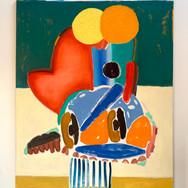Eclipsed Jab Oil on canvas 162 x 130 cm