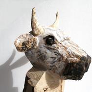 Bullitt. Wood, acrylic paint, 150x60x45 cm.