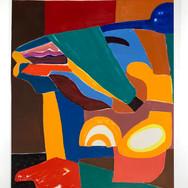 Horse kiss Oil on canvas 162 x 130 cm