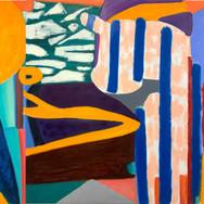 Est Mabla Triptyque Oil on canvas 342 x 150 cm