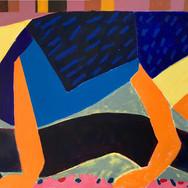 Big blue eyes Oil on canvas 200 x 100 cm
