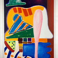 Home run Oil on canvas 146 x 114 cm