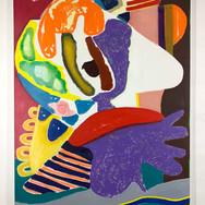 Purple wrap Oil on canvas 146 x 114 cm