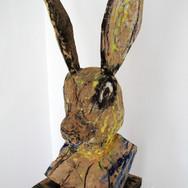 R.R Wood, acrylic paint,110x50x45 cm.