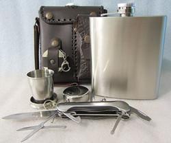Фляжка 0,5 л. «Комфорт» +нож складной+1 стакан складной 1