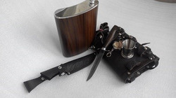 Фляжка 2 л. «Разведчик» + Нож Разведчика НР-40, складной стаканчик-3 шт. 1