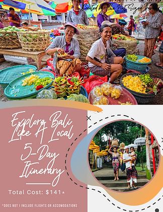 Explore Bali Like A Local 5-Day Itinerary