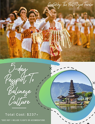 5-Day Passport to Balinese Culture