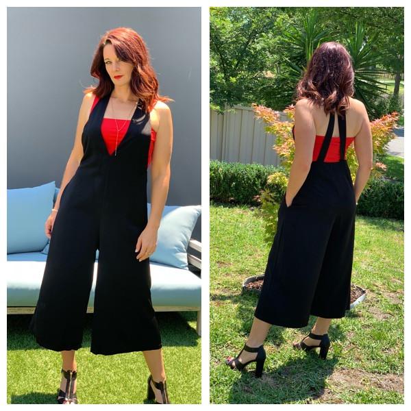 Kylie in the Wide Legs black jumpsuit