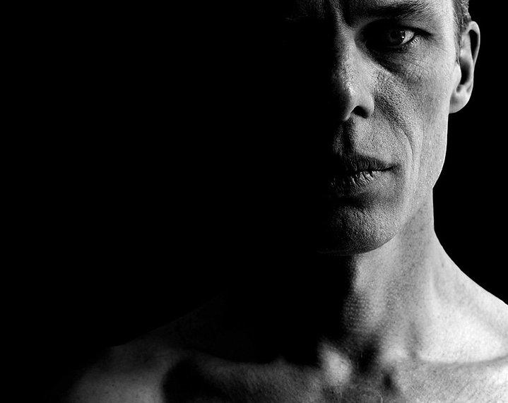 BW Retrato de un hombre