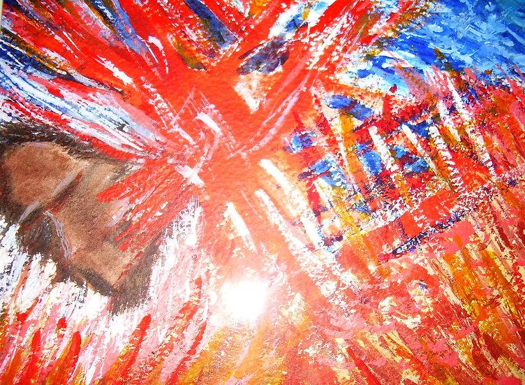 Highland Apparition,Original water/pencil ,by hrca