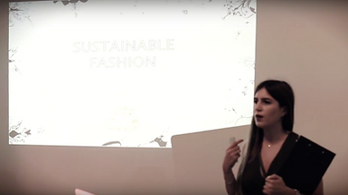 Layal Ghosn giving a presentation on sustainable design in Beirut Design Days for LaLaQueen