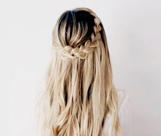 balayage hair color with braids