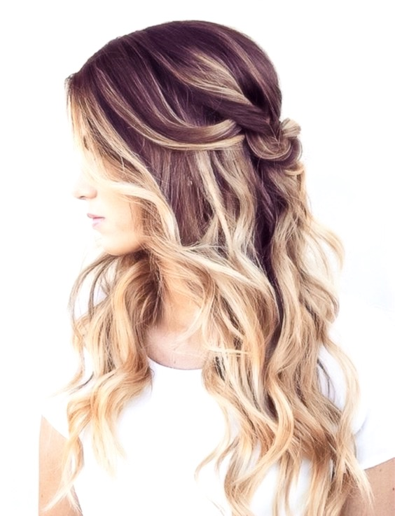 Ombre Hair Color with curly hair