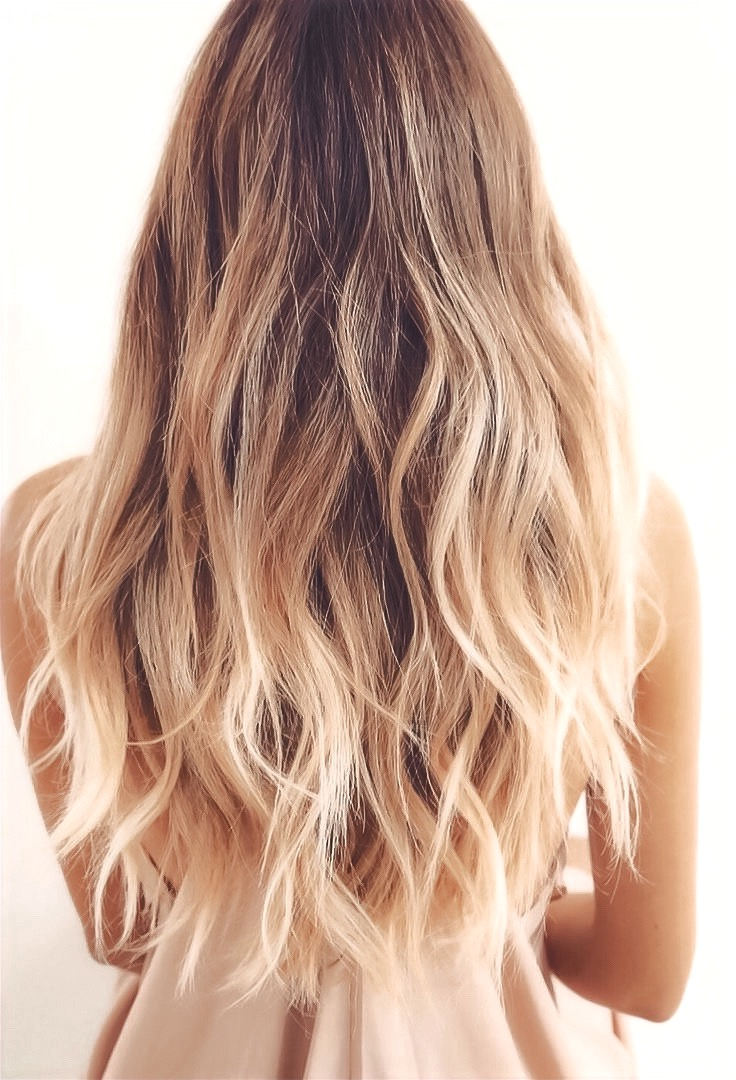 long blonde ombre and balayage hair