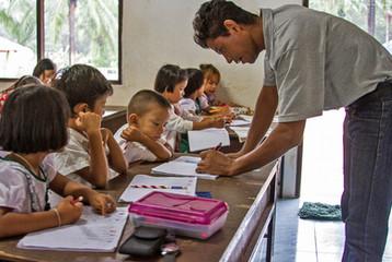 Andaman Center Students and Teacher.JPG