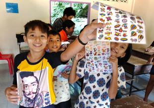 Andaman Center Sticker Time