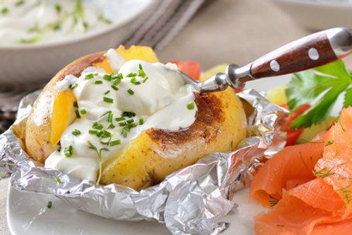 Ofenkartoffel Lachs
