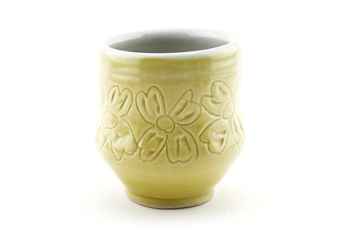 Small Juice Cup with Flower Design