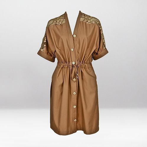 Robe à taille coulissée en coton OKINAWA