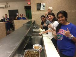 Serving Dinner at Grace Market Place
