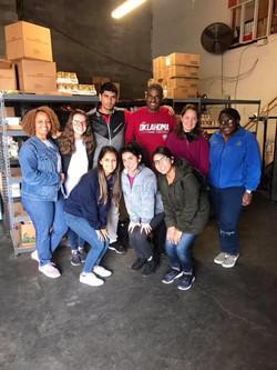 Volunteering at a Food Pantry