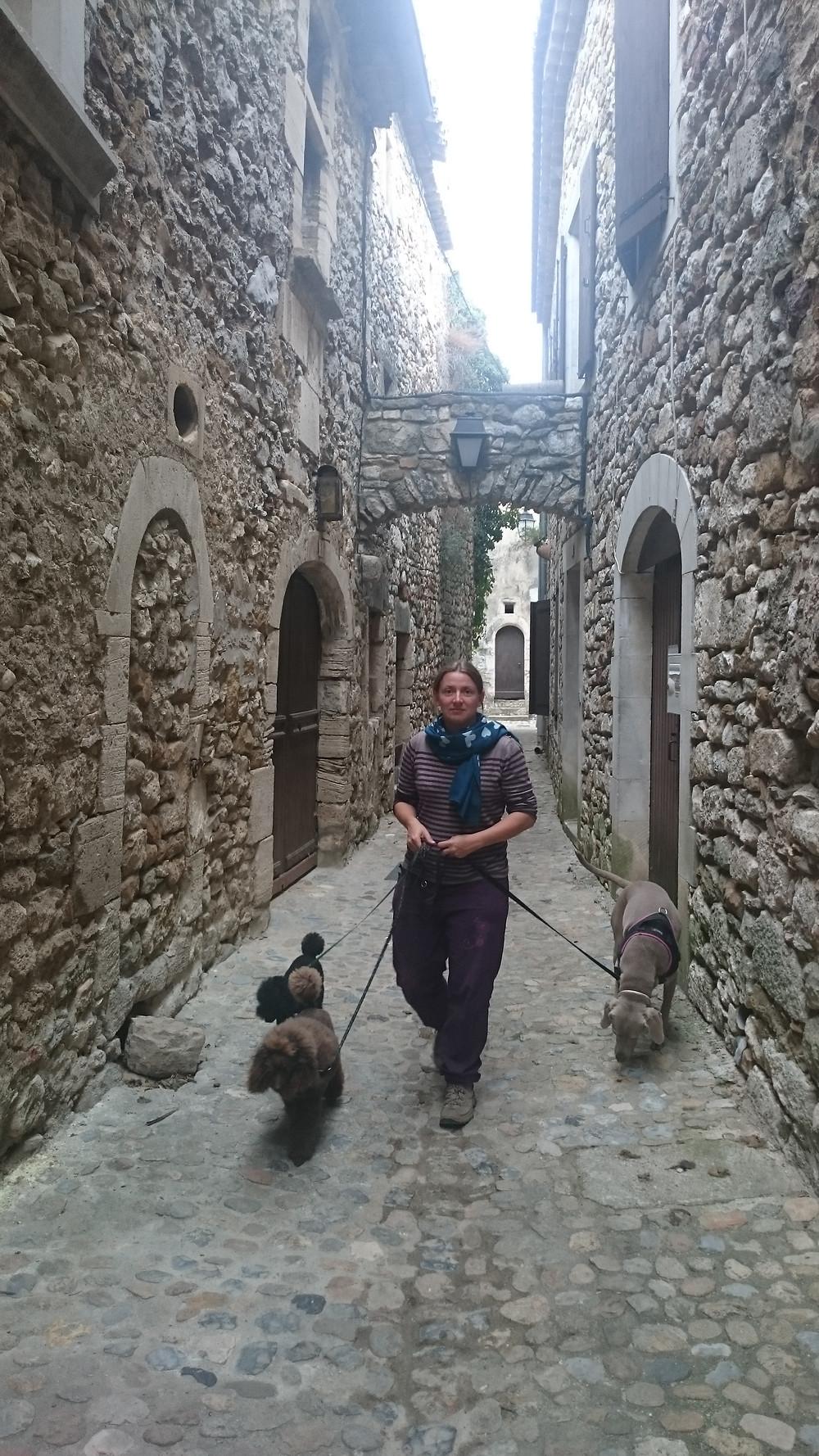 Rue d'un des plus beaux villages d'Ardèches.