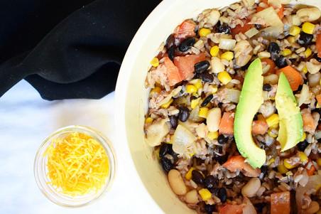 Southwestern Rice with Tuna