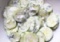 food photography: cucumber salad