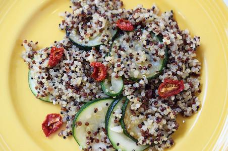 Quinoa with Zucchini & Cherry Tomatoes