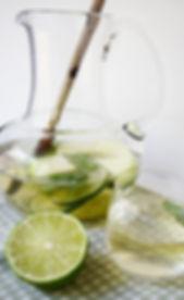 Food photography: green sangria