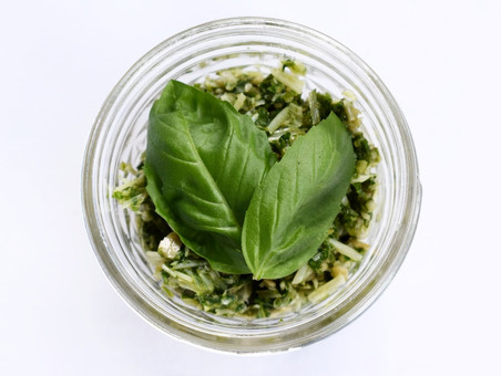 Homemade Pesto With Basil From My Garden!